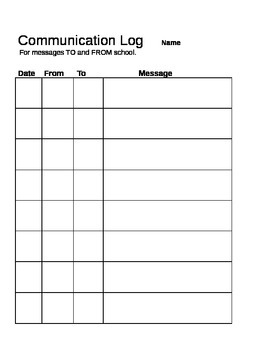 Communication Log