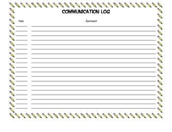 Communication Log