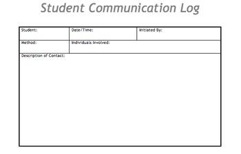 Student Communication Log