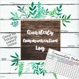 Parent Communication Log (Editable in Excel)