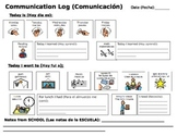 Communication Log - Autism - Spanish - School to Home