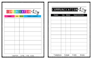 Parent Communication Log (EDITABLE)