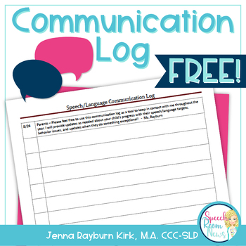 Communication Log FREEBIE