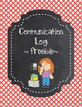Communication Log ~Freebie~