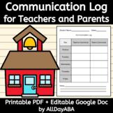 Parent Teacher Communication Log - Daily Communication Sheet
