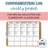 Communication Log Weekly