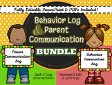 Communication Log and Behavior Intervention Log Bundle