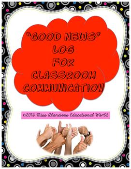 "Communication Log for ""Good News"""