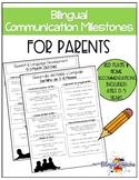 Communication Milestones Ages 0-5 years- BILINGUAL