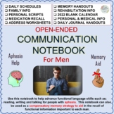 Communication Notebook For Men With Aphasia or Memory Loss