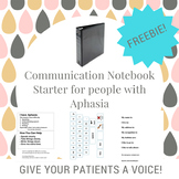 Communication Notebook Starter for Adults with Aphasia (AAC)