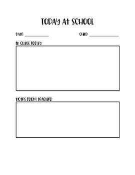 Communication Notebook Template