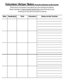 Communication Notes when Working with Students - From Volunteer to Teacher