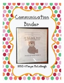 Communication / Parent / Take Home / Student Binder