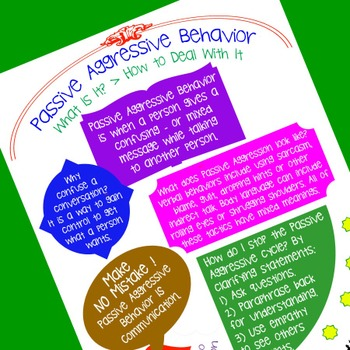 Communication Skills: Passive Aggressive Behaviors Defined in 1 Page HANDOUT