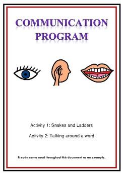 Communication Program - Encouraging Functional Communicati