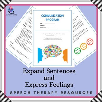 Communication Program - Goals: expand sentences and express feelings