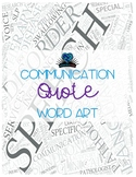 Communication Quote Word Art