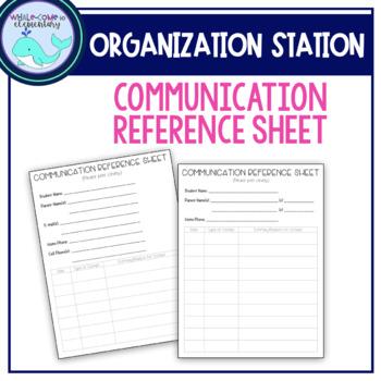 Communication Reference Sheet