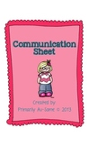 Family Communication Sheet for Students with Disabilities