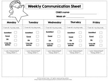 Communication Sheet