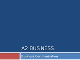 Communication Skills / Business Communication PPTs A Level, GCSE, IGCSE, IB