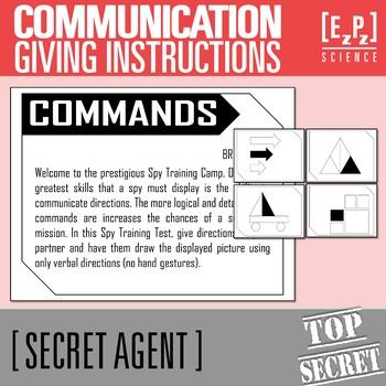 Communication Skills- Secret Agent Activity