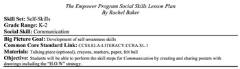 Communication - Social Skills Lesson Plan