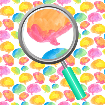 Communication / Speech Bubble Handpainted Watercolor Backgrounds / Digital Paper