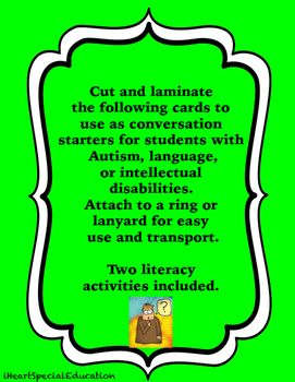Communication Starters and Literacy Activities