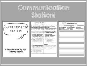 Communication Station Binder System for Teaching Teams