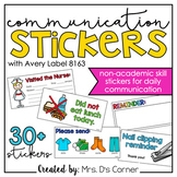 Communication Stickers | Non-Academic Stickers for Daily P