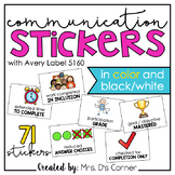 Communication Stickers | Progress Monitoring Stickers (from Teachers to Parents)