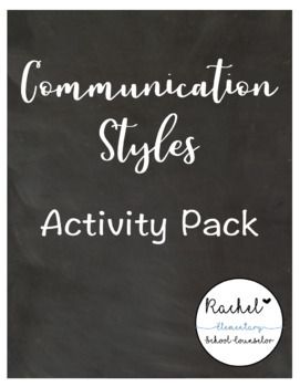Communication Styles Pack (Passive, Aggressive, Assertive) | TpT