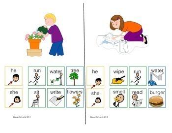 AAC Core Word Phrases Pronoun Verb Object Set 2