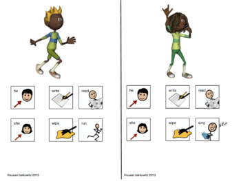 AAC Core Word More Verb Phrase Practice Set 2