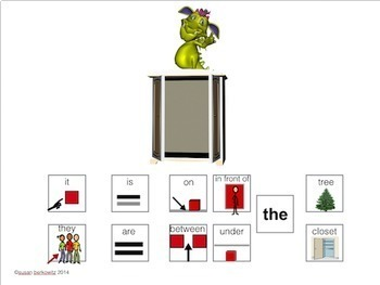 AAC Core Word Prepositions In Phrases for Speech Therapy