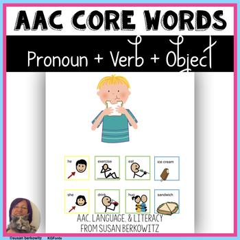 Communication Symbol Phrases Pronoun + Verb + Object_ AAC_ Autism