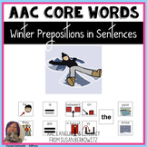AAC Core Word  Winter Sentences with Prepositions
