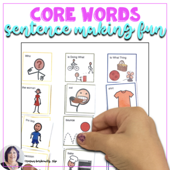 AAC Core Words Sentence Making Fun for Speech Therapy or Special Ed