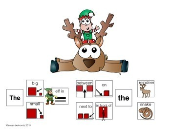 Communication Symbol Sentence Practice Winter Prepositions and Adjectives