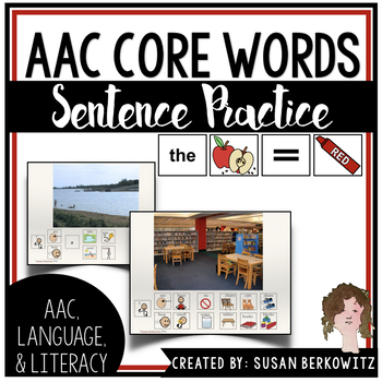 AAC Core Word Communication Symbol Sentence Practice for Speech Therapy