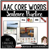 AAC Core Word Communication Symbol Sentence Practice for S