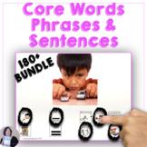 AAC Core Word Sentences Bundle for Speech Language
