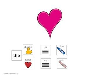AAC Core Word Communication Symbol Sentences Descriptor plus Preposition