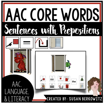 AAC Core Word Communication Symbol Sentences with Prepositions