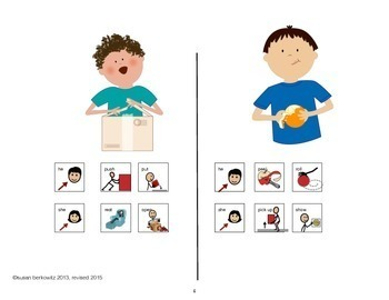 Communication Symbol verb phrase practice_aac_autism_special education