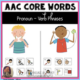 AAC Core Word Communication Symbol Verb Phrase Practice