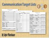 Communication Target Lists