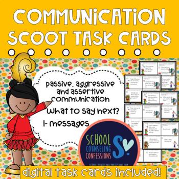 Communication Task Cards {Digital Assessment Included}